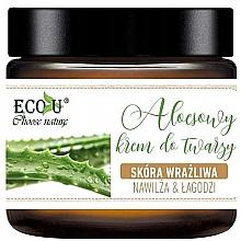 Düfte, Parfümerie und Kosmetik Feuchtigkeitsspendende Gesichtscreme mit natürlichen Wirkstoffen - Eco U Aloe Face Cream