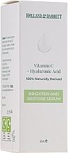 Düfte, Parfümerie und Kosmetik Aufhellendes und regenerierendes Gesichtsserum mit Hyaluronsäure und Vitamin C - Holland & Barrett Vitamin C + Hyaluronic Acid Serum