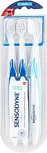 Düfte, Parfümerie und Kosmetik Zahnbürste weich Gentle Care hellblau, blau 3 St. - Sensodyne Gentle Care Soft Toothbruhs