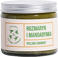 Düfte, Parfümerie und Kosmetik Entspannendes Körperpeeling mit Rosmarin und Mandarine - Cztery Szpaki