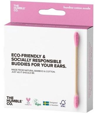 Bambus-Wattestäbchen rosa - The Humble Co. Cotton Swabs Pink