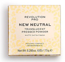 Düfte, Parfümerie und Kosmetik Transparenter Gesichtspuder - Revolution Pro New Neutral Translucent Pressed Powder