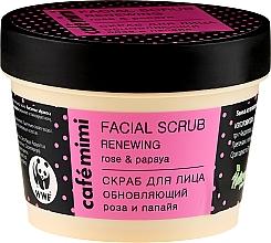 Düfte, Parfümerie und Kosmetik Gesichtspeeling mit Rose und Papaya - Cafe Mimi Facial Scrub Renewing