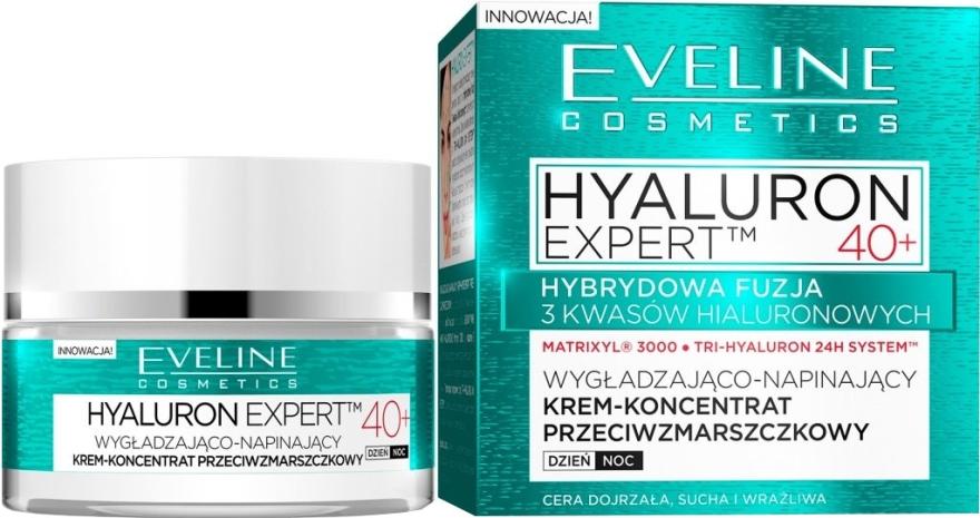 Intensive festigende Tages- und Nachtcreme 40+ - Eveline Cosmetics Hyaluron Expert 40+ — Bild N1