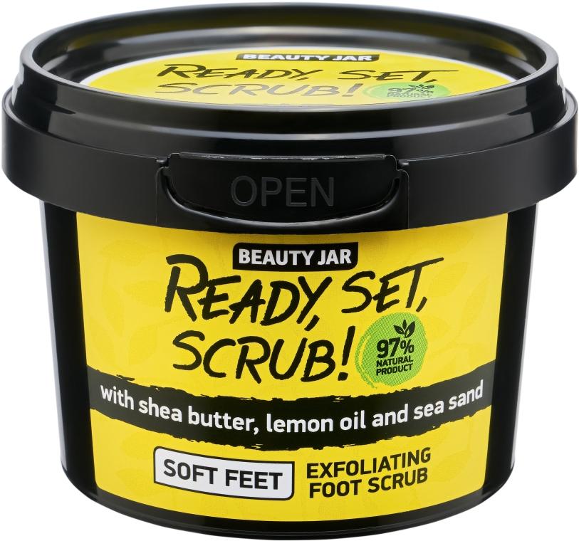 Fußpeeling mit Sheabutter, Zitronenöl und Seesand - Beauty Jar Ready, Set, Scrub! Exfoliating Foot Scrub