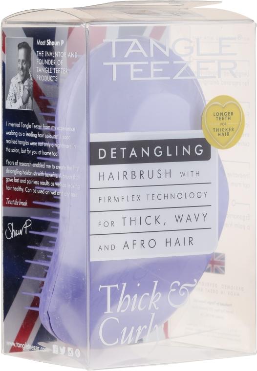 Entwirrbürste für dickes und lockiges Haar violett - Tangle Teezer Detangling Thick & Curly Lilac Fondant