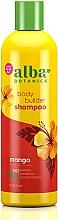 Düfte, Parfümerie und Kosmetik Haarshampoo mit tropischen Extrakten für mehr Volumen - Alba Botanica Natural Hawaiian Shampoo Body Builder Mango