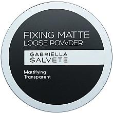 Düfte, Parfümerie und Kosmetik Mattierender loser Gesichtspuder transparent - Gabriella Salvete Fixing Matte Loose Transparent Powder