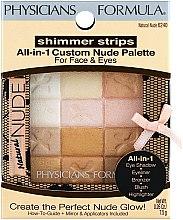 Düfte, Parfümerie und Kosmetik Make-up Set - Physicians Formula Shimmer Strips All-In-1 Custom Nude Palette For Face & Eyes