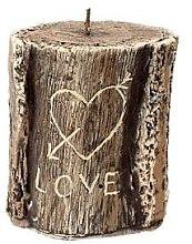Düfte, Parfümerie und Kosmetik Duftkerze 11,5x13 cm Brauner Baumstumpf - Artman Stump Valentin