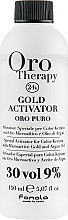 Düfte, Parfümerie und Kosmetik Entwicklerlotion mit goldenen Mikropartikeln und Arganöl 9% - Fanola Oro Gold