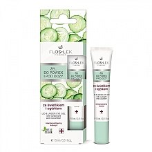 Düfte, Parfümerie und Kosmetik Pflegegel für Augenlider und Augenpartie mit Augentrost und Gurkenextrakt - Floslek Lid And Under Eye Gel With Eyebright & Cucumber