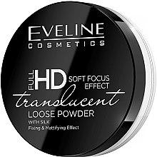 Düfte, Parfümerie und Kosmetik Loser Gesichtspuder mit Seide und Matteeffekt - Eveline Cosmetics Full HD Soft Focus Translucent Loose Powder