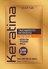 Düfte, Parfümerie und Kosmetik Intensiv pflegende und aufweichende Haarmaske für mehr Glanz mit Keratin - Kativa Keratina Intensive Treatment