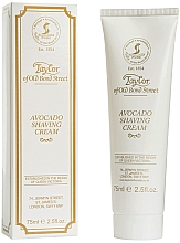 Düfte, Parfümerie und Kosmetik Luxuriöse Rasiercreme mit Avocadoöl - Taylor of Old Bond Street Avocado Luxury Shaving Cream (Tube)