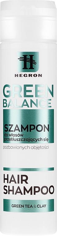 Ausgleichendes Shampoo für fettiges Haar - Hegron Green Balance Hair Shampoo
