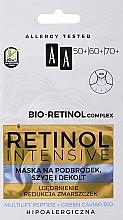 Düfte, Parfümerie und Kosmetik Intensiv straffende Anti-Falten Maske für Kinn, Hals und Dekolleté mit Retinol, Peptiden und grünem Kaviar - AA Retinol Intensive Bio-Retinol Complex 50+ 60+ 70+ Mask