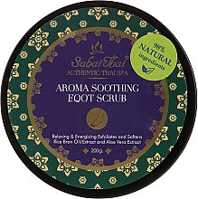 Düfte, Parfümerie und Kosmetik Beruhigendes Fußpeeling mit Reiskleieöl und Aloe Vera - Sabai Thai Rice Milk Aroma Soothing Foot Scrub