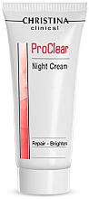 Düfte, Parfümerie und Kosmetik Regenerierende Nachtcreme - Christina Clinical ProClear Night Cream