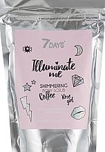Düfte, Parfümerie und Kosmetik Schimmerndes Kaffee-Körperpeeling mit Roseduft - 7 Days Illuminate Me Shimmering Body Scrub