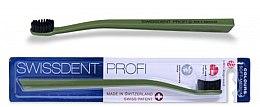 Düfte, Parfümerie und Kosmetik Zahnbürste mittel Colours schwarz-grün - SWISSDENT Profi Colours Soft-Medium Toothbrush Green&Black