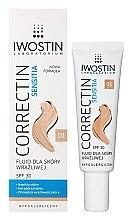 Düfte, Parfümerie und Kosmetik Langanhaltendes und mattierendes Fluid für empfindliche Haut - Iwostin Sensitia Correctin Fluid SPF 30