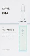 Düfte, Parfümerie und Kosmetik Peeling-Maske für das Gesicht - Missha Peeling Solution Sheet Mask