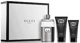 Düfte, Parfümerie und Kosmetik Gucci Guilty Eau Pour Homme - Duftset (Eau de Toilette 90ml+Duschgel 50ml+After Shave Balsam 75ml)