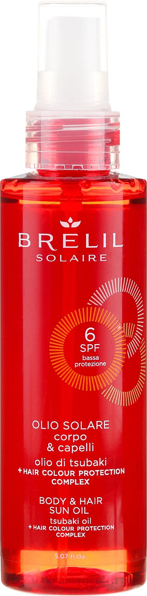 Sonnenschutzöl für Haar und Körper SPF 6 - Brelil Solaire Oil SPF 6 — Bild 150 ml