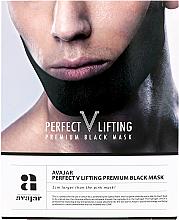 Düfte, Parfümerie und Kosmetik Straffende Anti-Doppelkinn Gesichtsmaske - Avajar Perfect V Lifting Premium Black Mask