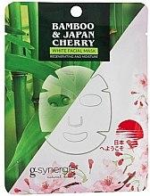 Düfte, Parfümerie und Kosmetik Tuchmaske mit Bambus und japanischer Kirsche - G-synergie Bamboo & Cherry White Face Mask