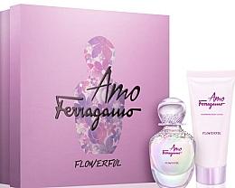 Düfte, Parfümerie und Kosmetik Salvatore Ferragamo Amo Ferragamo Flowerful - Duftset (Eau de Toilette 50ml + Körperlotion 100ml)