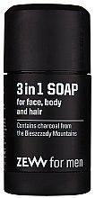 Düfte, Parfümerie und Kosmetik 3in1 Naturseife für Gesicht, Körper und Haar mit Aktivkohle - Zew For Men 3 in 1 Soap For Face Body And Hair