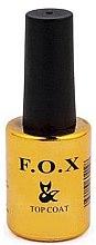 Düfte, Parfümerie und Kosmetik Mattierender Nagelüberlack - F.O.X Top Matte Velour