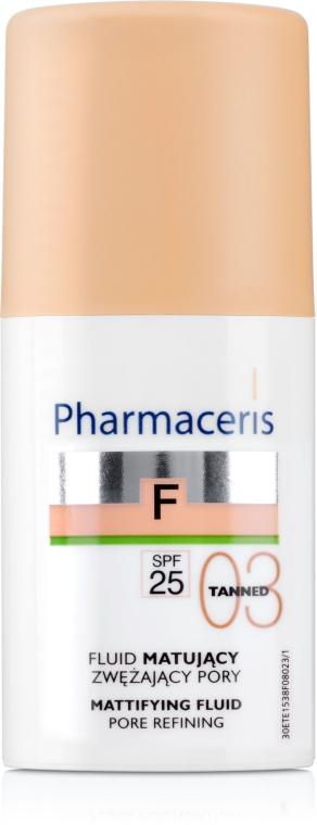Mattierende Foundation zur Porenverfeinerung SPF 25 - Pharmaceris F Mattifying Fluid Pore Refining SPF 25