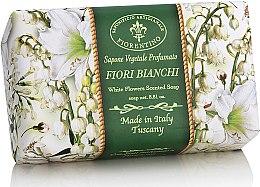 Düfte, Parfümerie und Kosmetik Naturseife Weiße Blumen - Saponificio Artigianale Fiorentino White Flowers Scented Soap