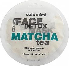 Düfte, Parfümerie und Kosmetik Maske-Peeling mit Matcha und Aloe Vera - Cafe Mimi Face Mask