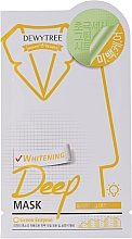 Düfte, Parfümerie und Kosmetik Aufhellende Tuchmaske mit Zitronengras-Extrakt - Dewytree Whitening Deep Mask