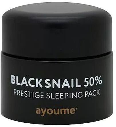 Intensiv regenerierende Anti-Falten Gesichtsmaske für die Nacht mit schwarzem Schneckenschleimfiltrat - Ayoume Black Snail Prestige Sleeping Pack