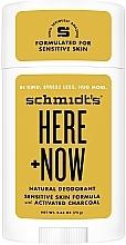 Düfte, Parfümerie und Kosmetik Natürlicher Deostick mit Aktivkohle - Schmidt's Here +Now Natural Deodorant