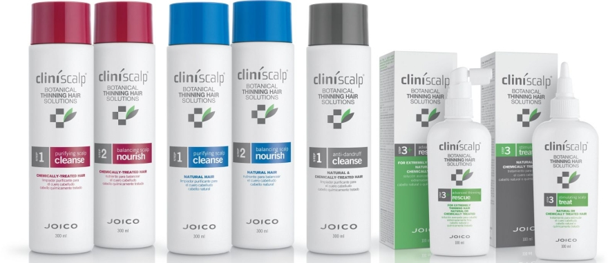 Haarpflegeset - Joico Cliniscalp 3-step Trial Kit For Natural Hair Advanced Stages (Shampoo 100ml + Conditioner 100ml + Haarbehandlung 50ml) — Bild N3