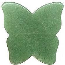 Düfte, Parfümerie und Kosmetik Gesichtsmassage-Platte aus Aventurin-Quarz Schmetterling - Crystallove Butterfly Aventurine Gua Sha
