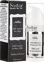 Düfte, Parfümerie und Kosmetik Haarserum gegen Haarausfall für Männer - Sostar Donkey Milk Men Anti-Hair Loss Serum