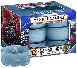 """Düfte, Parfümerie und Kosmetik Yankee Candle Scented Tea Light Candles Mulberry & Fig - Teelichte """"Mulberry & Fig Delight""""-12 St."""