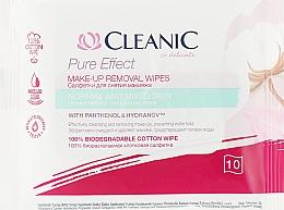 Düfte, Parfümerie und Kosmetik Feuchttücher zum Abschminken für normale und gemischte Haut 10 St. - Cleanic Pure Effect Moisturizing