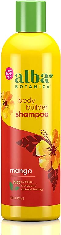 Haarshampoo mit tropischen Extrakten für mehr Volumen - Alba Botanica Natural Hawaiian Shampoo Body Builder Mango
