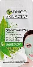Düfte, Parfümerie und Kosmetik Reinigende und erfrischende Gesichtsmaske mit Matcha und Kaolin - Garnier SkinActive Matcha + Kaolin Mask
