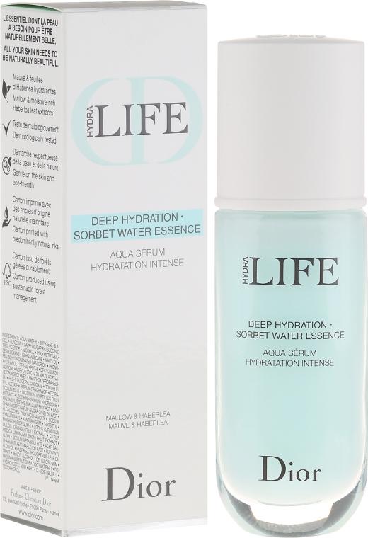 Tief feuchtigkeitsspendendes Gesichtsserum mit Malven- und Haberleablätterextrakt - Dior Hydra Life Deep Hydration Sorbet Water Essence