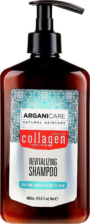Revitalisierendes Shampoo mit Kollagen und Arganöl - Arganicare Collagen Revitalizing Shampoo
