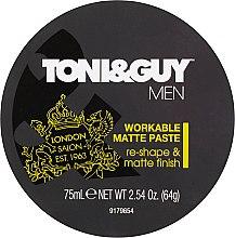 Düfte, Parfümerie und Kosmetik Modellierende Haarpaste mit Matt-Effekt - Toni & Guy Men Workable Matte Paste